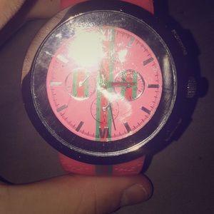 Pink/Gucci Watch
